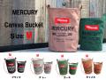 【新作 10%OFF】 MERCURY マーキュリー キャンバスバケツ Canvas Bucket  Mサイズ インテリア キャンバス地 収納バケツ