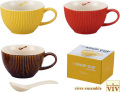 VIV ヴィヴ ギフトにも最適 ワンポイントが可愛いスープカップ 全3色