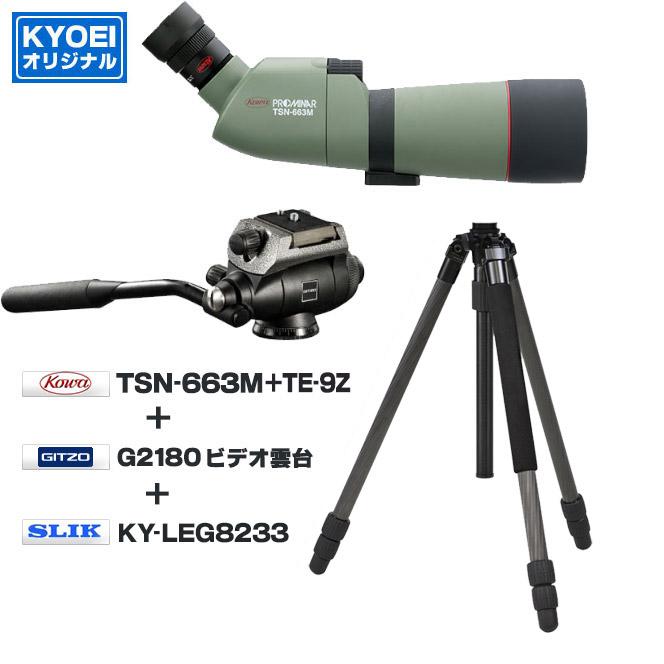 KYOEI コーワTSN-663M(傾斜型)+TE-9Z+ジッツォG2180+スリックKY-LEG8233