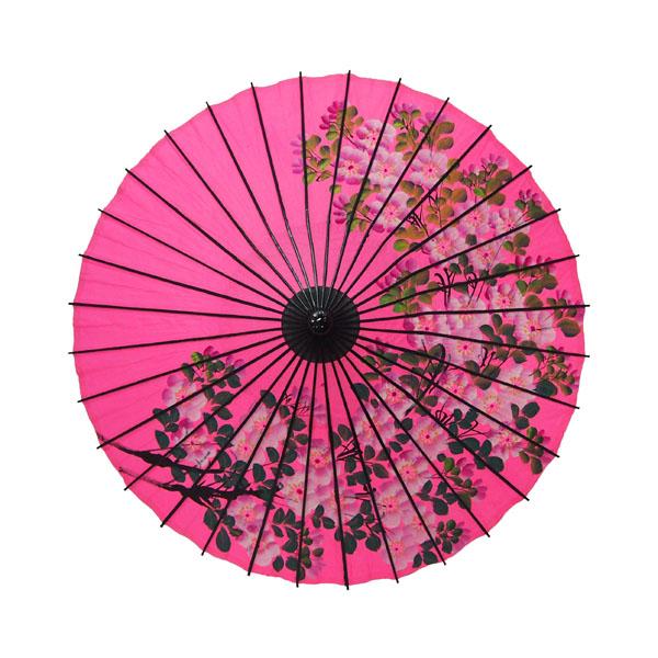 紙舞日傘 こども用和傘 桜絵 ピンク