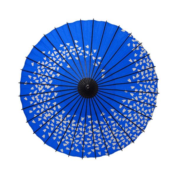 紙舞日傘 こども用和傘 桜渦 青