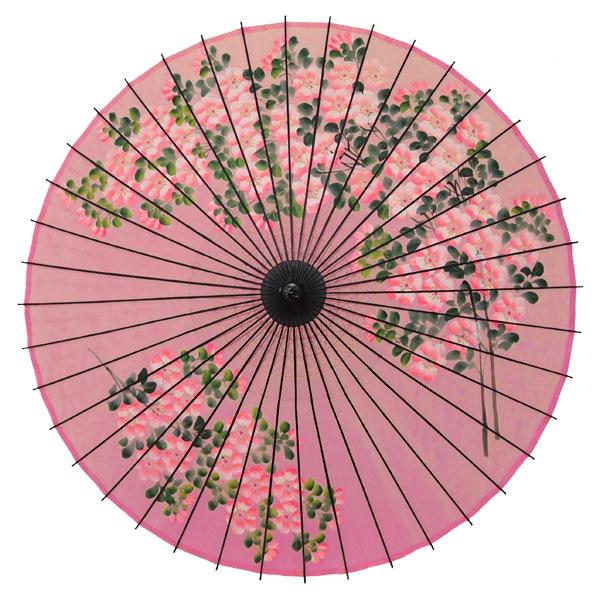 絹舞傘 桜絵 ピンク