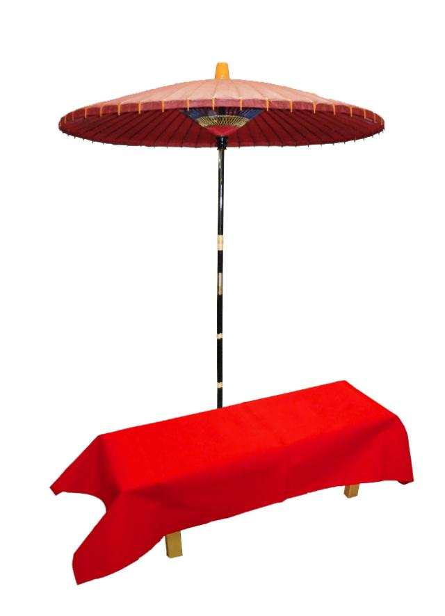野点傘と縁台