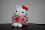 ハローキティ/和風キティ/Hello Kitty/【桜22】キティぬいぐるみ(座)紫