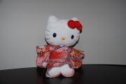 ハローキティ/和風キティ/Hello Kitty/【桜22】キティぬいぐるみ(座)ピンク