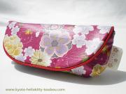 メガネケース【花吹寄せ】紫