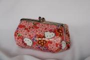 ハローキティ/和風キティ/Hello Kitty/【桜22】コロリンガマ口 ピンク