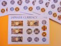 【日本のおみやげ】ポストカード【日本の流通貨幣/写真】(バラ単品)透明OPP袋入り