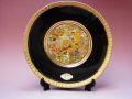 【日本のおみやげ】◆ニュー彫金飾り絵皿・8吋<br>【JAPAN 名所地図】飾りスタンド付
