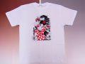 【日本のおみやげ】【ホームステイおみやげ】【日本土産】(漢字・和柄)◆和風Tシャツ【京都ガール】大人用(M〜LL)白地