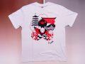【日本のおみやげ】【ホームステイおみやげ】【日本土産】(漢字・和柄)◆和風Tシャツ【京都舞妓】大人用(S〜LL)白地