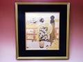 【日本のおみやげ】◆彫金額縁【京舞妓】【受注生産品となります】