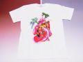 【日本のおみやげ】【ホームステイおみやげ】【日本土産】(漢字・和柄)◆和風Tシャツ【藤娘】大人用(3L)白地