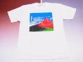 【日本のおみやげ】【ホームステイおみやげ】【日本土産】(漢字・和柄)◆和風Tシャツ【赤富士】大人用(3L)白地