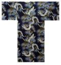 【日本のおみやげ】◆外国人向け3色地浴衣【竜】男性用(M/L)