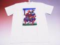【ホームステイおみやげ】【日本土産】(漢字・和柄)◆和風Tシャツ【義経】子供用(100cm〜150cm)白地