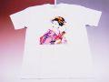 【ホームステイおみやげ】【日本土産】(漢字・和柄)◆和風Tシャツ【舞妓(ピンク)】子供用(100cm〜150cm)白地