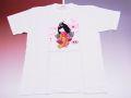 【ホームステイおみやげ】【日本土産】(漢字・和柄)◆和風Tシャツ【おさげ】子供用(80cm〜150cm)白地