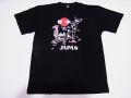 【ホームステイおみやげ】【日本土産】(漢字・和柄)◆和風Tシャツ【地図舞妓】子供用(100cm〜150cm)黒地