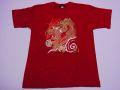 【ホームステイおみやげ】【日本土産】(漢字・和柄)◆和風Tシャツ【飛龍】子供用(150cm)赤地