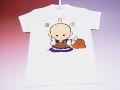 【ホームステイおみやげ】【日本土産】(漢字・和柄)◆和風Tシャツ【小坊主】子供用(100cm〜150cm)白地