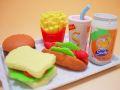 【日本のおみやげ】◆おもしろ消しゴム【バーガーショップ】ブリスターパックプラスチック製トレイ付