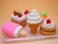 【日本のおみやげ】◆おもしろ消しゴム【ケーキ】ブリスターパックプラスチック製トレイ付