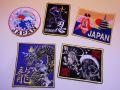 【日本のおみやげ】◆和風刺繍ワッペン【B】5枚入セット
