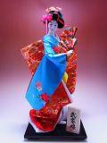 【日本のおみやげ】◆日本人形10号【武家娘】尾山作「特上品」※着物の絵柄はイメージとなります。