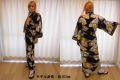 【日本のおみやげ】◆外国人向け着物【小紋扇面】女性用(フリーサイズ)