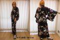 【日本のおみやげ】◆外国人向け着物【梅に鶴】女性用(フリーサイズ)