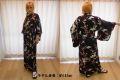 【日本のおみやげ】◆外国人向け着物【梅鶴】女性用(フリーサイズ)
