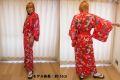 【日本のおみやげ】◆外国人向け着物【八重桜マイコ】女性用(フリーサイズ)