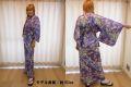 【日本のおみやげ】◆外国人向け着物【桜草】女性用(フリーサイズ)
