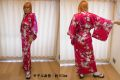 【日本のおみやげ】◆外国人向け着物【新桜】女性用(フリーサイズ)