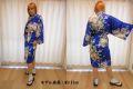 【日本のおみやげ】◆外国人向けハッピローブ【花車ボーダー】女性用(フリーサイズ)
