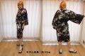 【日本のおみやげ】◆外国人向けハッピローブ【梅に鶴】女性用(フリーサイズ)