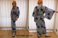 【日本のおみやげ】◆外国人向け浴衣【縞あやめ】女性用(S〜LL)