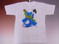 【日本のおみやげ】【ホームステイおみやげ】【日本土産】(漢字・和柄)◆和風Tシャツ【獅子舞】大人用(M)白地