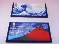 【日本のおみやげ】◆ゼムリア札入【葛飾北斎画】赤富士/波裏よりお選びください。