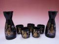 【日本のお土産】◆金舞妓5客酒器セット【日本美陶】