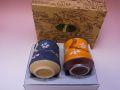 【日本のお土産】◆彫り桜杵型組湯呑セット(絵柄部分彫刻)【日本美陶】