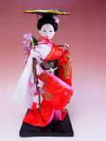 【日本のおみやげ】◆日本人形【藤娘】小9インチ