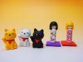 【日本のおみやげ】◆おもしろ消しゴム【こけしと招き猫】ブリスターパック