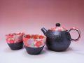 【日本のお土産】◆紅華ミニポット2客茶器揃セット【日本美陶】