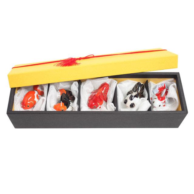 KY12-787E/Chopstick rest/A Set of 5 Goldfishes