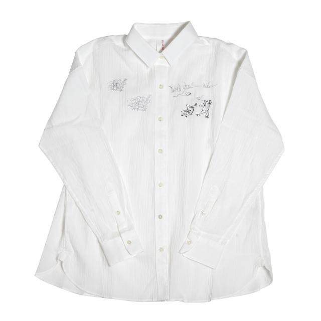 KY17-680/ドビーシャツ[播州織]/蛙と兎の相撲