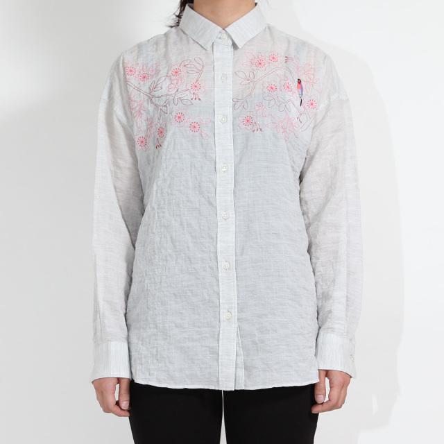 KY17-703/ふんわりシャツ[播州織]/うそ