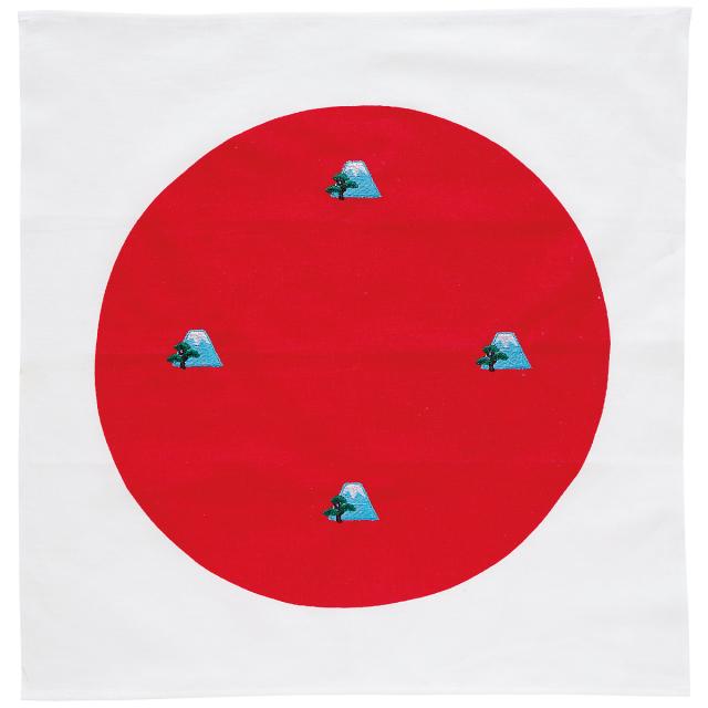 KY28-156/ハンカチ/富士山〈青〉