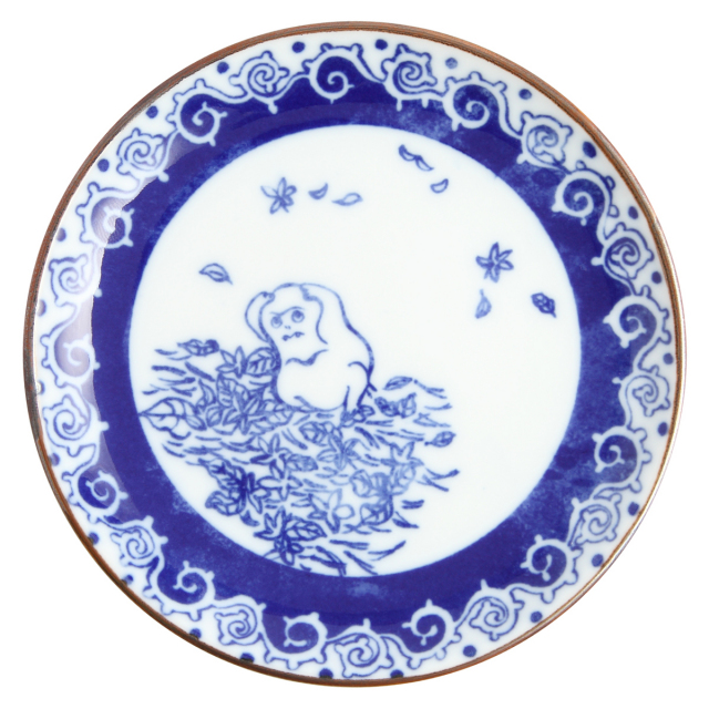 KY86-193/印判4寸小皿/恥っかき/はじっかき
